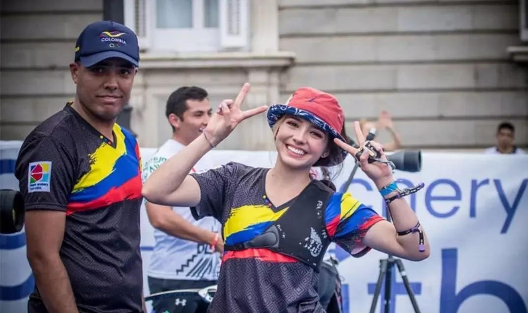 哥伦比亚妹子参加射箭比赛,因高颜值意外走红,网友:爱神丘比特