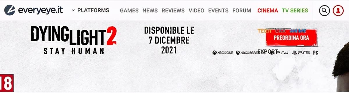 疑似《消逝的光芒2》12月7日发售 意大利新闻网曝光