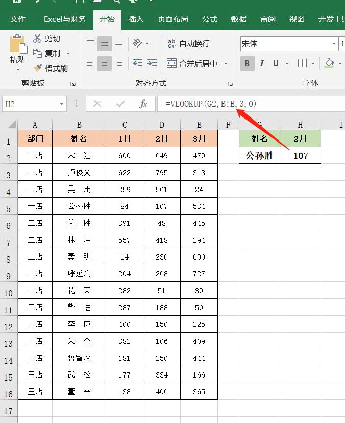 Excel查找引用函数:VLOOKUP函数的语法和实例讲解