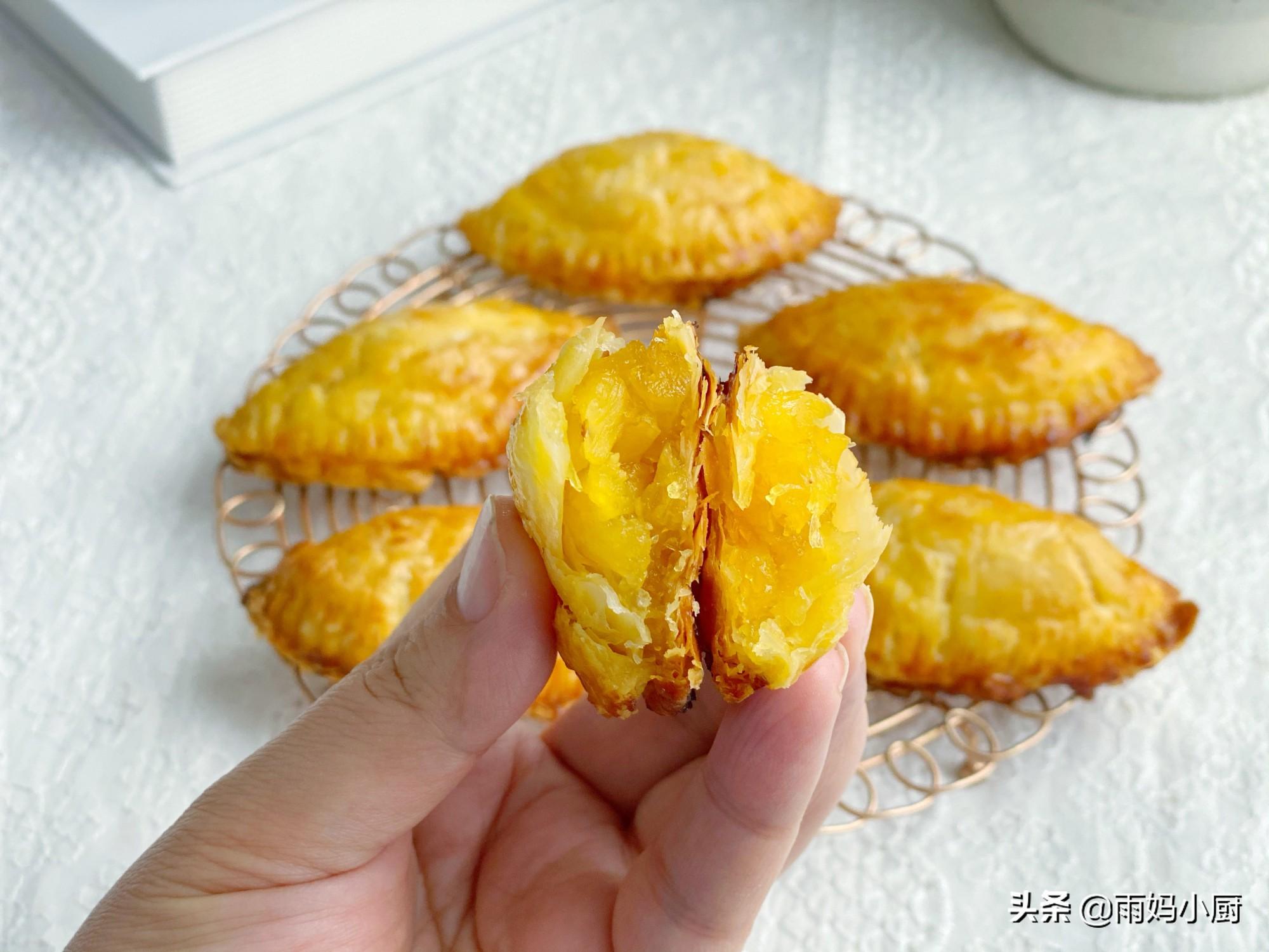 香酥掉渣的菠蘿酥,用蛋撻皮就能做,外酥里香,懶人一看也會做