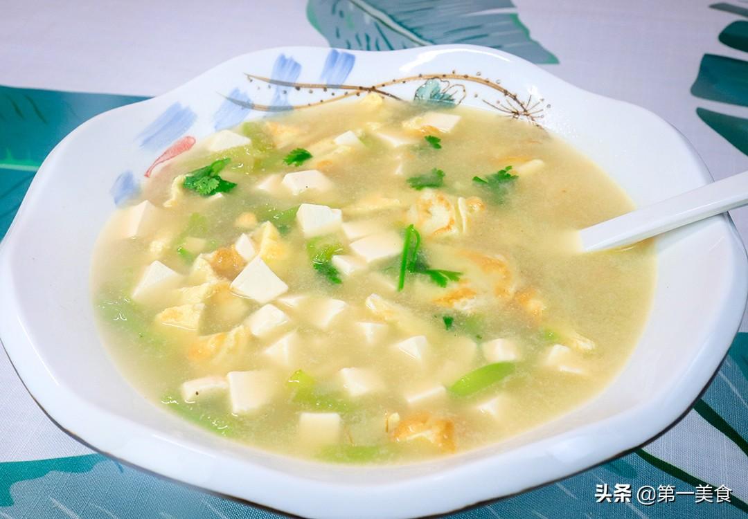 【丝瓜豆腐汤】做法步骤图 厨师长炖成滋补汤 清香营养