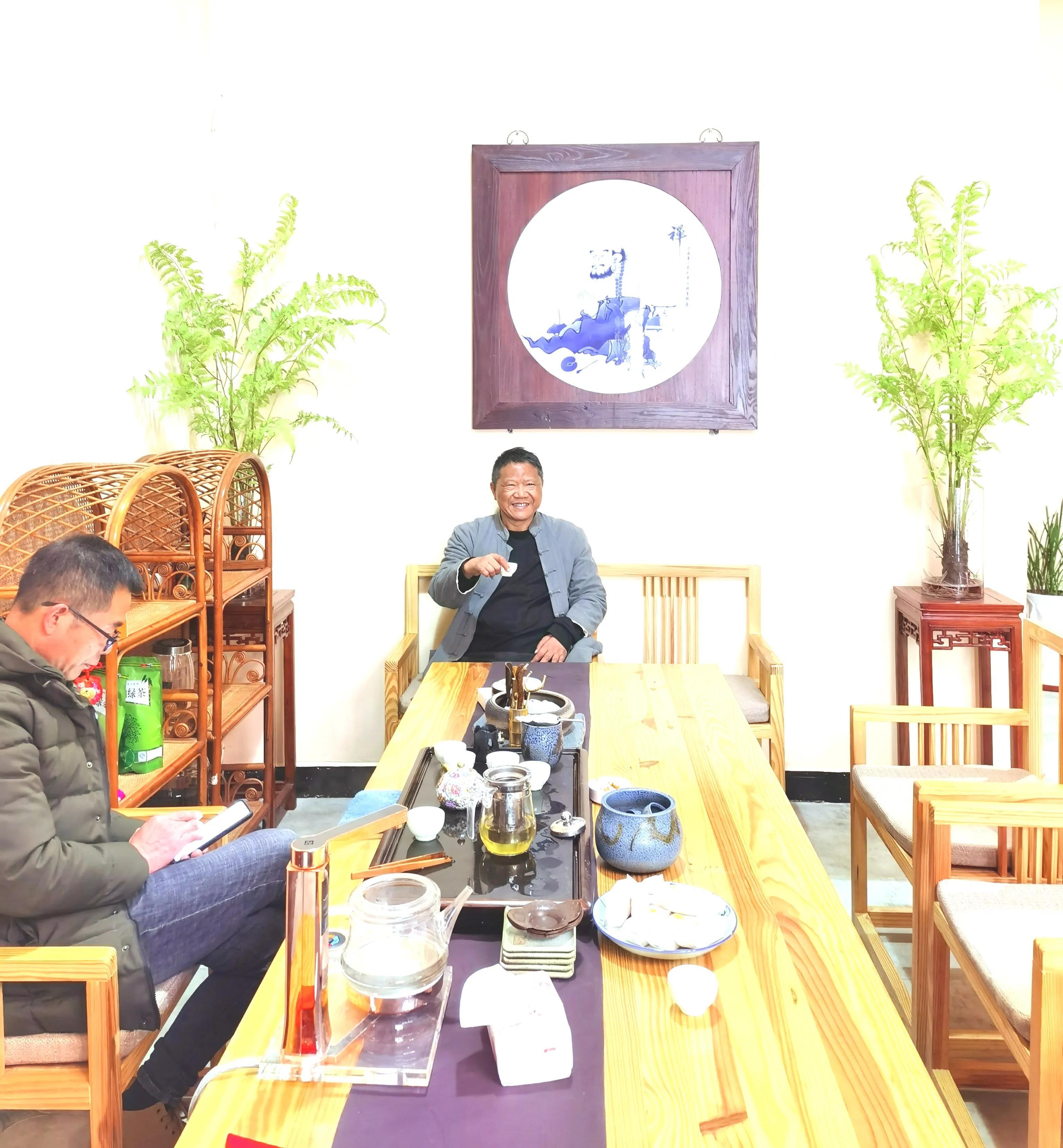 曾祥裕应邀为赣州台湾部落民俗文化村考察风水