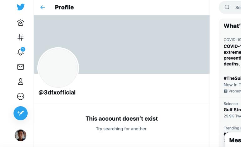显卡公司 3dfx 不会回归了:推特账号已注销,英伟达否认该消息