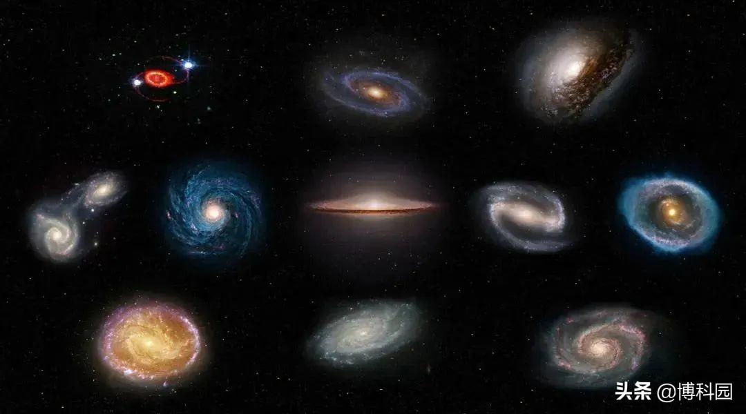 哈勃拍摄1500万光年外的星系时,还同时看到太阳系的两颗小行星