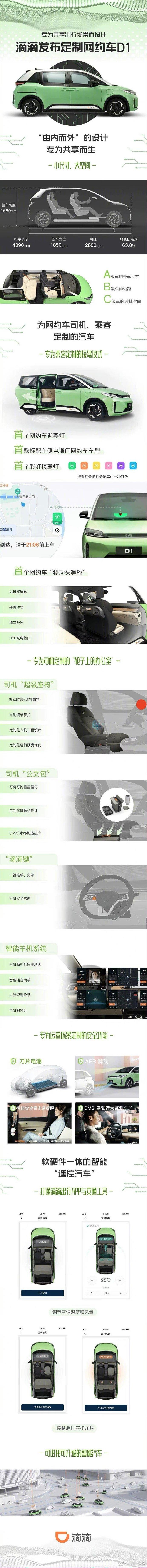世界首款为你量身定制的网约车D1,有点小激动