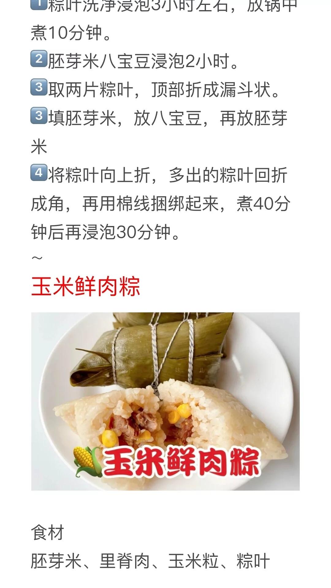 16种粽子的做法及配料!粽子馅配方种类大全,粽子制作方法教程 美食做法 第5张
