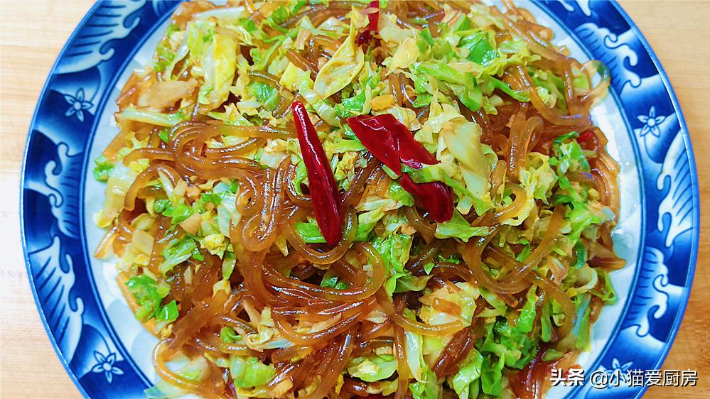 包菜炒粉条怎么做才好吃?教你1个小技巧,不坨不粘锅,味道也香 美食做法 第2张