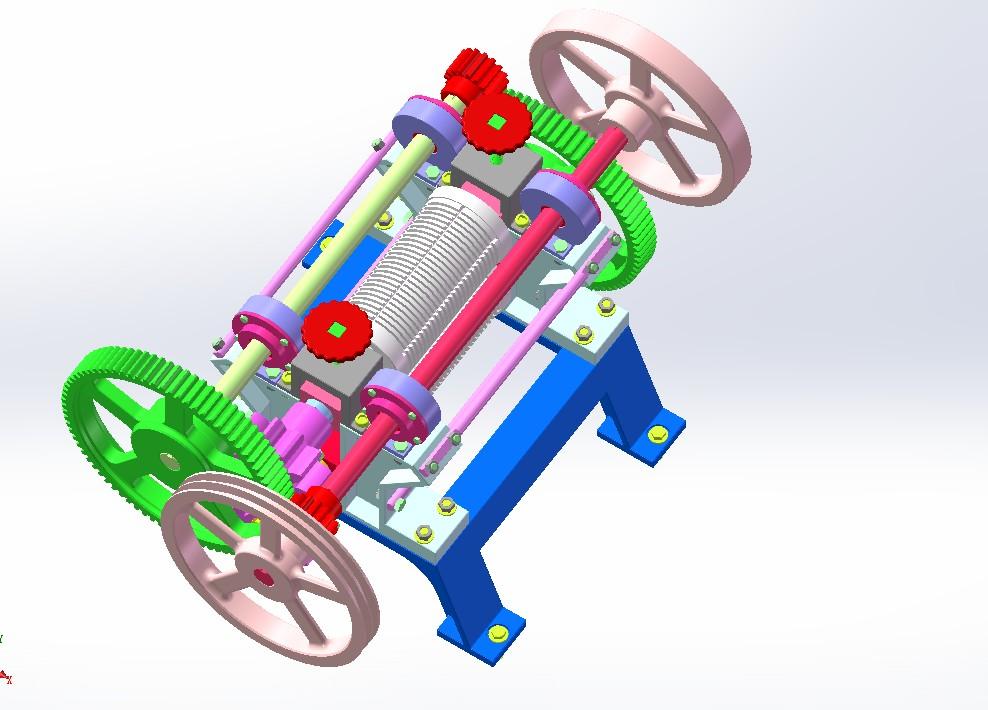 甘蔗榨汁机3D模型图纸 x_t格式