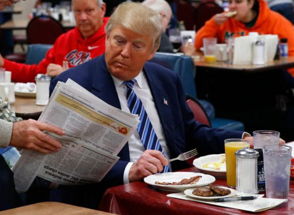 看完特朗普的一日三餐,再看看普京的,网友:没有对比就没有伤害