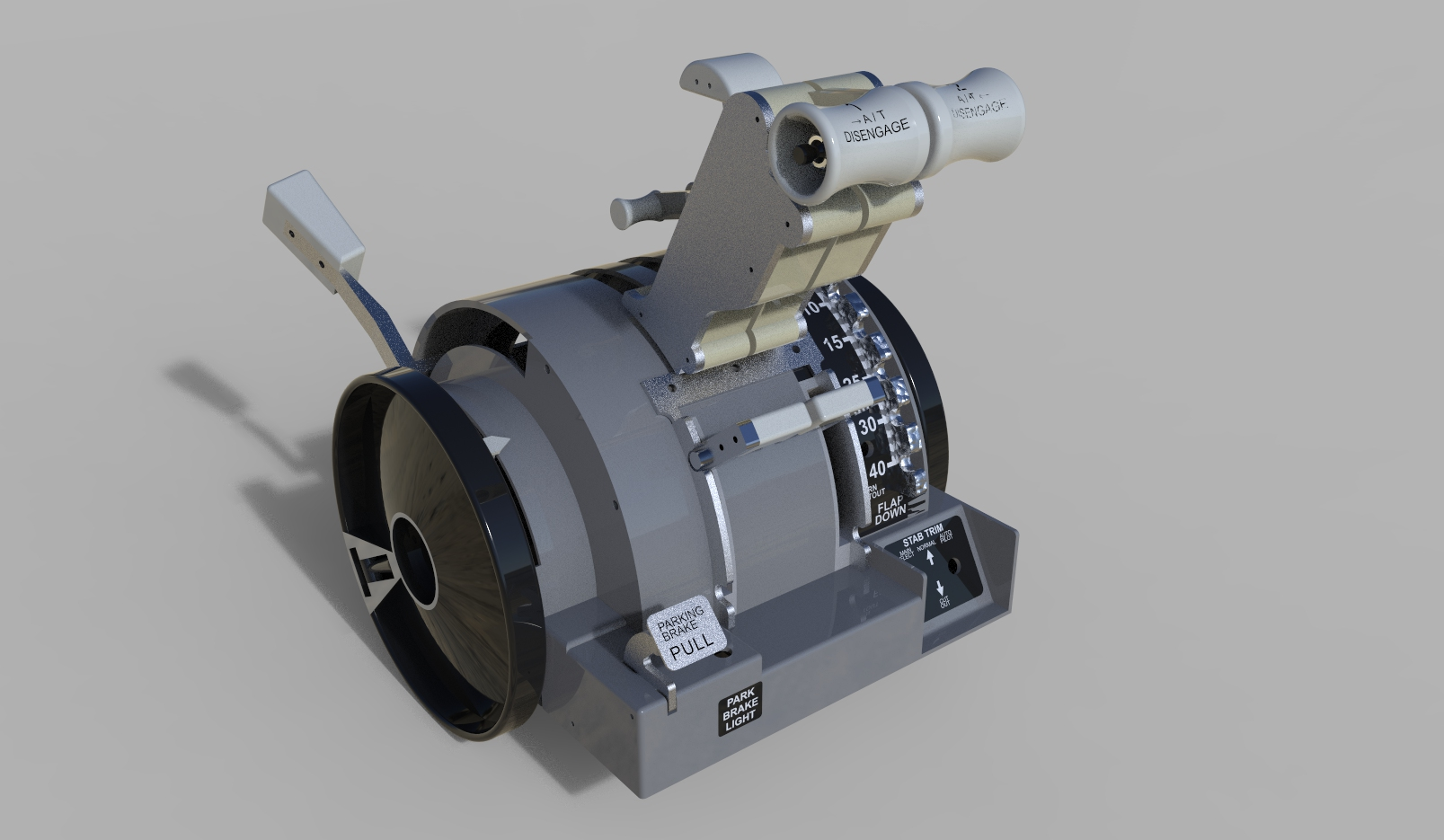 Throttle Quadrant油门推杆驱动器3D数模图纸 STP IGS格式