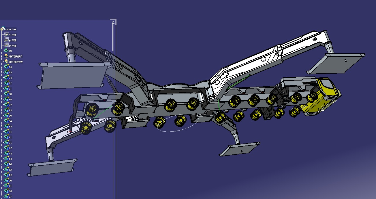 LIEBHERR LTM 11200新型轮式起重机底盘模型3D图纸 IGS格式