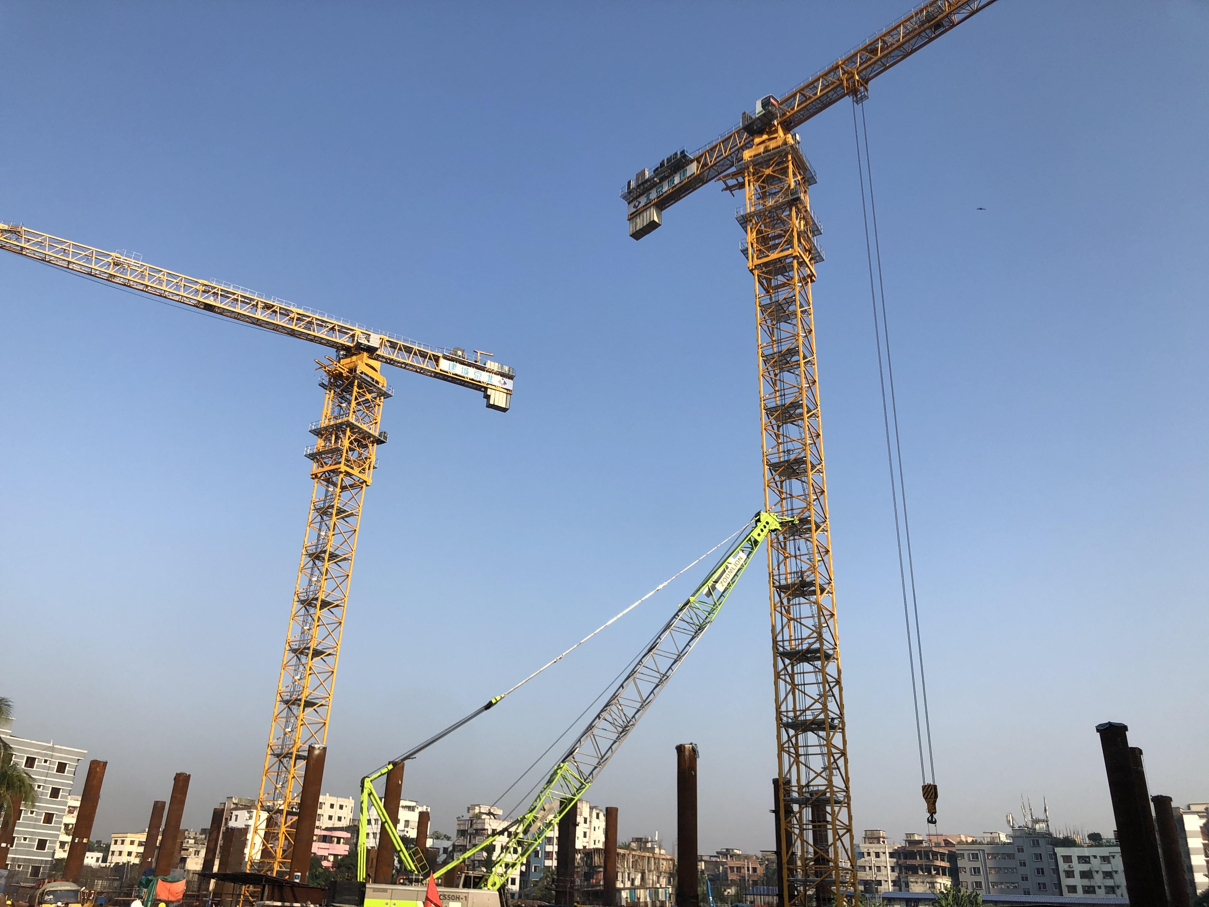 """""""一带一路""""中国力量!中联重科""""金牌""""塔机助建孟加拉地标建筑"""
