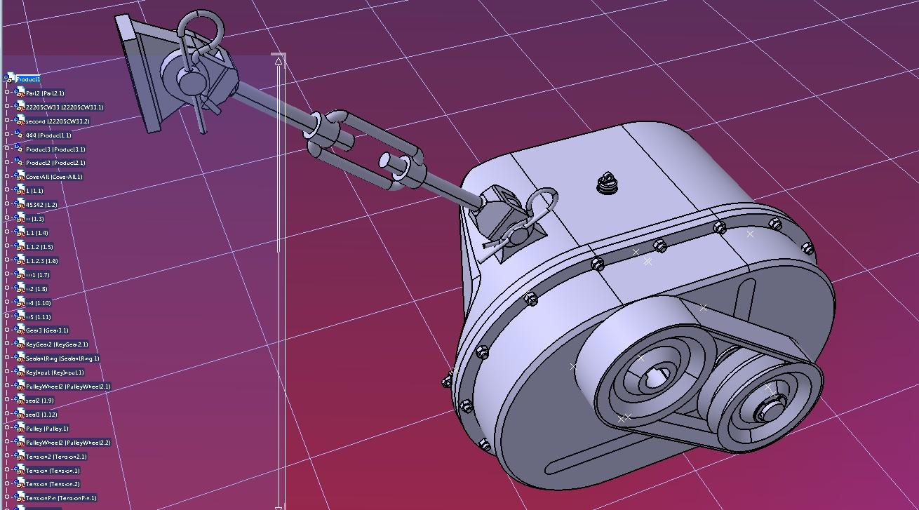 减速装置和张紧器3D数模图纸 STEP格式