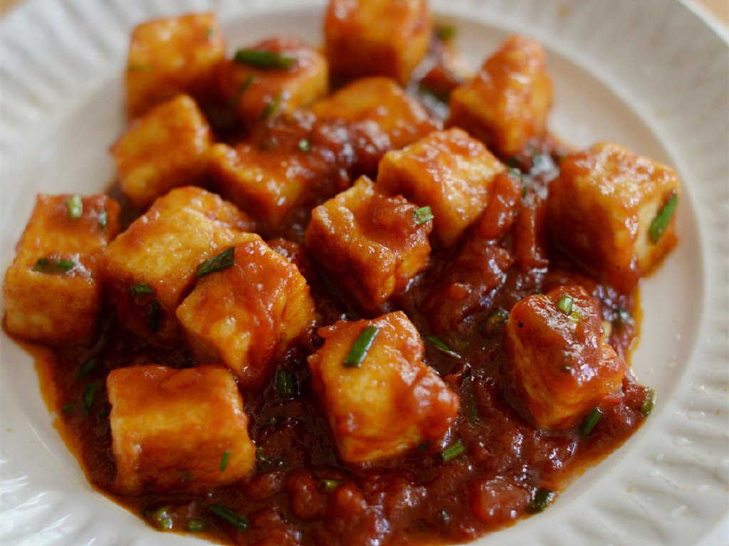 酸酸甜甜的茄汁脆皮豆腐,开胃下饭特别好吃,简单易做,一学就会 美食做法 第1张