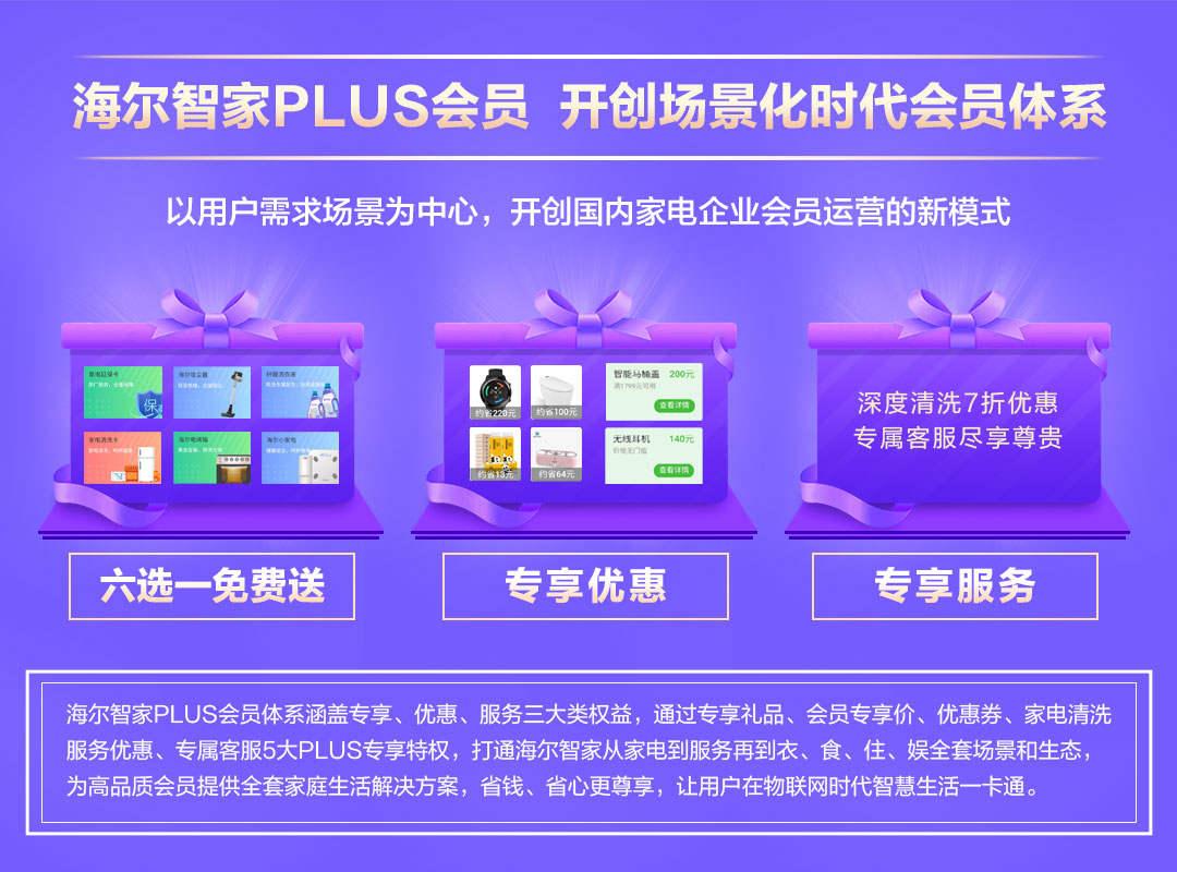 海尔智家推出PLUS会员,开创场景化时代会员体系