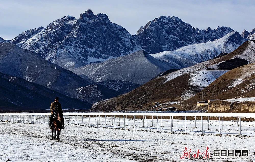 天祝冬日美景 藏在马牙雪山