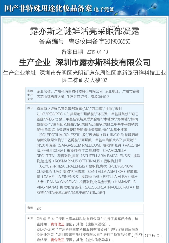 旗下多款化妆品遭责令改正,露亦斯公司曾被质疑其行为构成欺诈