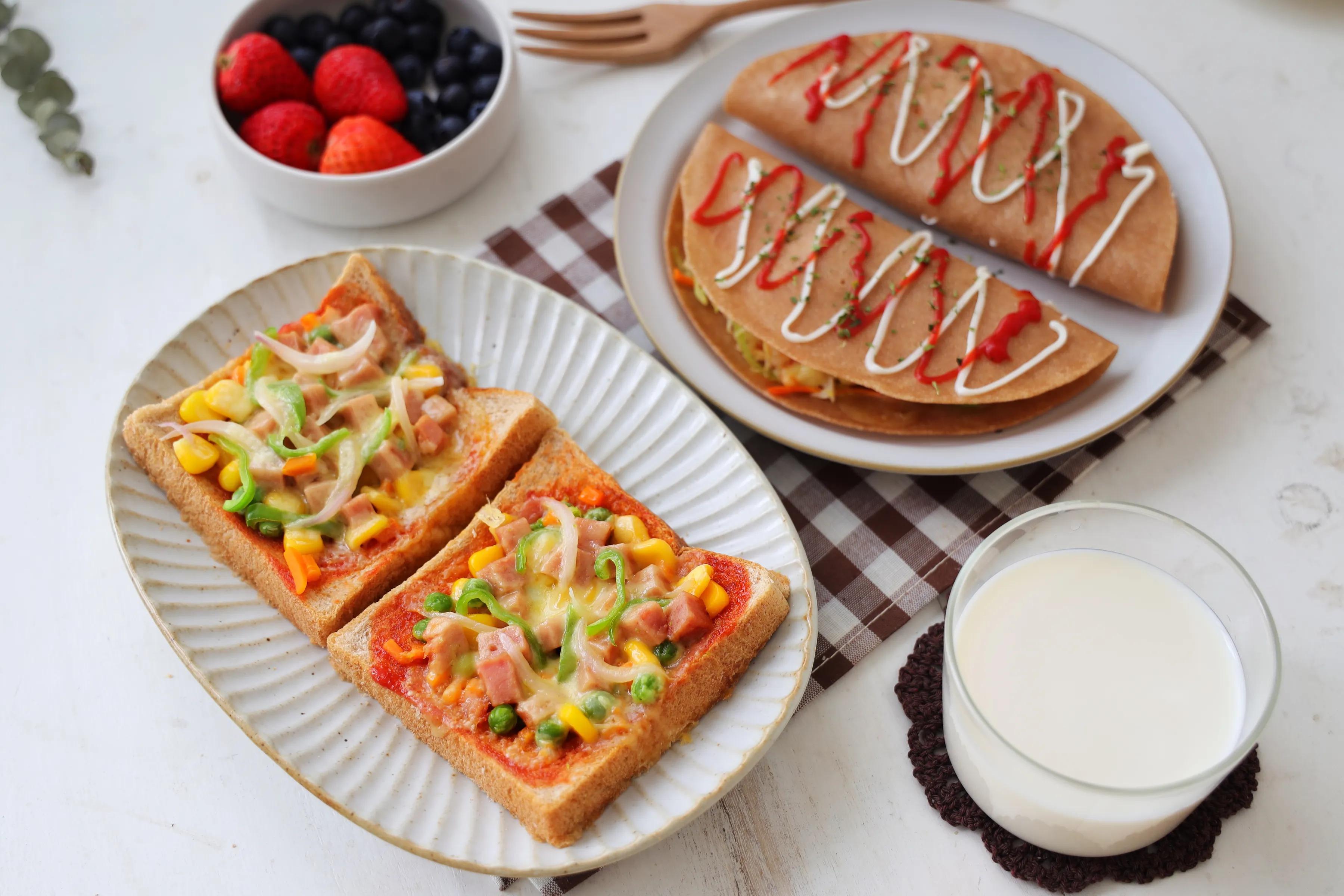 10分钟就能做好的快手早餐,不用烤箱,不用平底锅,微波炉就能做