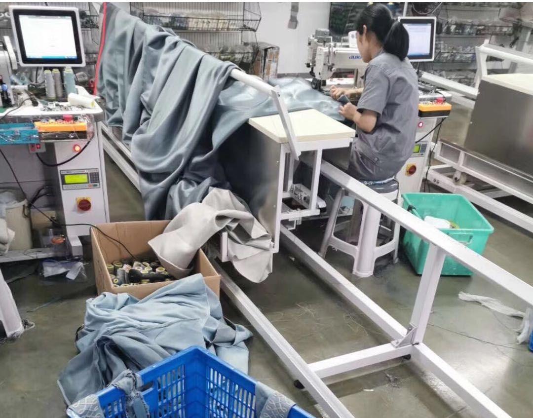 布艺加工厂:人工费太贵了,恨不得从进料到装车全部机械化