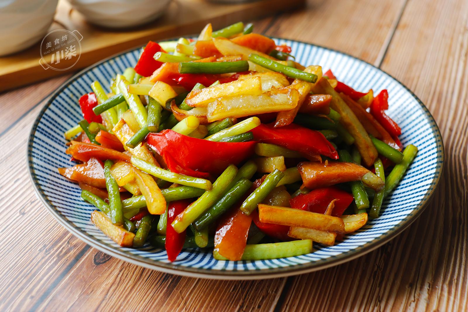 【清炒春菜】做法步骤图 几分钟出锅 上桌瞬间被扫光