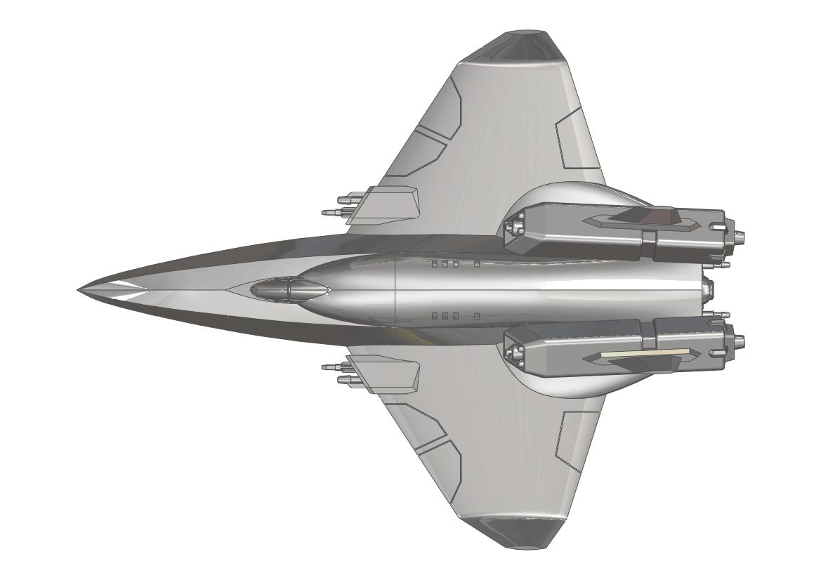 centurion重型战斗机造型3D图纸 STEP X_T格式