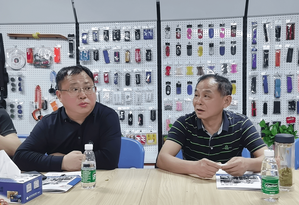 阳新县领导一行到访深圳市富成魔术贴有限公司考察交流