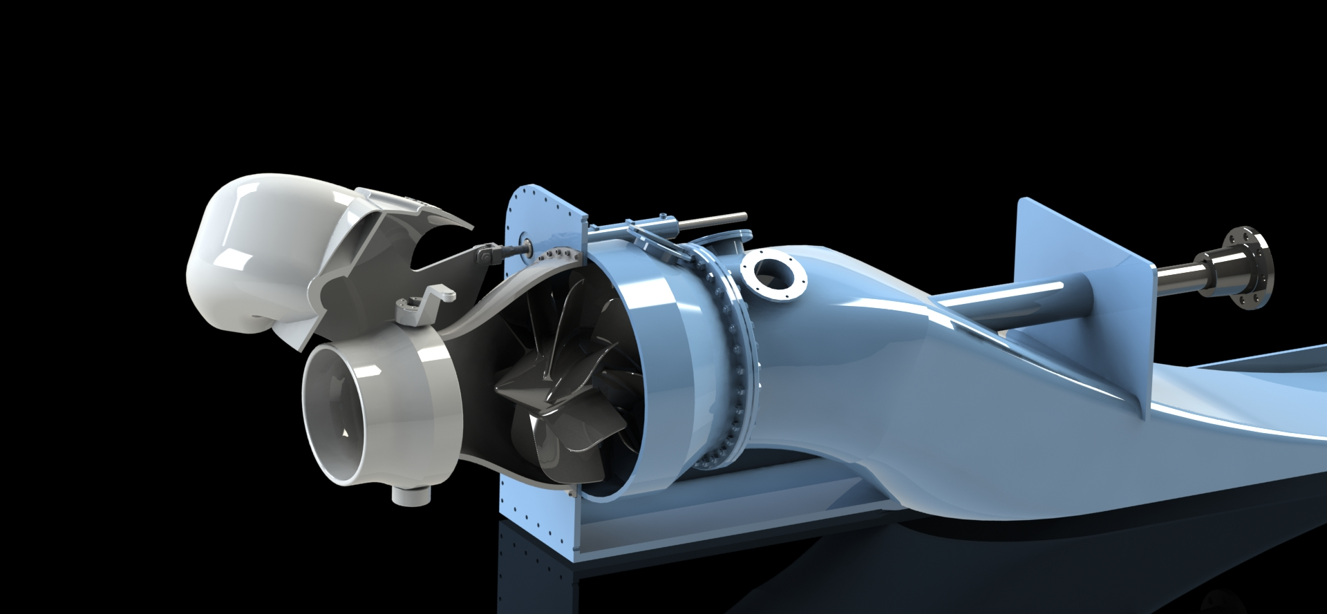 rolls-royce waterjet喷水推进器造型3D图纸 Soidworks设计 附x_t