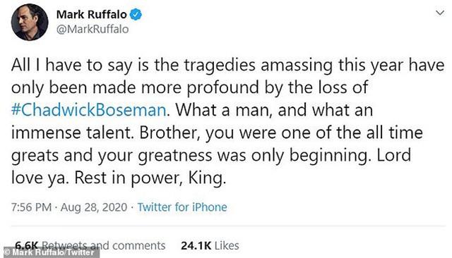 《黑豹》男主因结肠癌去世,漫威群星和NBA球星发声悼念
