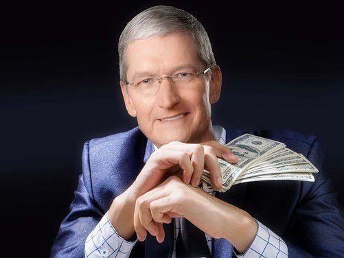 库克去年薪酬超1400万美元,基本工资仅300万,钱从哪来