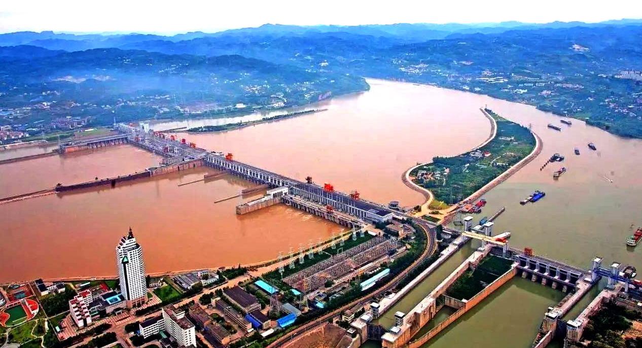 """长江三峡西陵峡口,理想""""330工程""""坝址 葛洲坝典藏"""