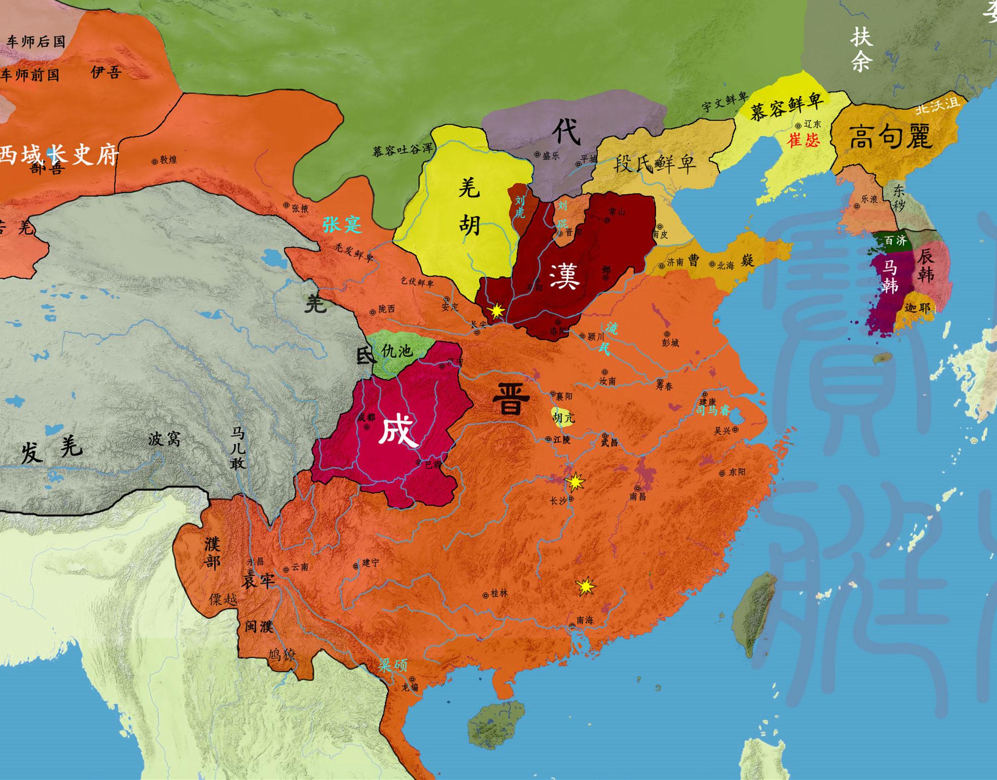 从地图看十六国的演变:中国最混乱的时代,是如何走向统一的?