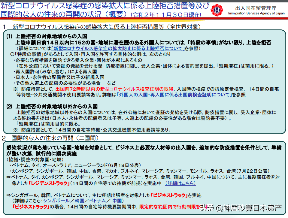 日本官宣禁止入境了?中国不在封禁名单内