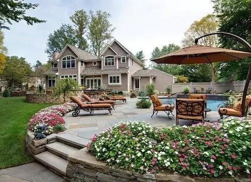 """玩转庭院:13个美式""""花园庭院""""设计,这样的大院子你爱了吗?"""