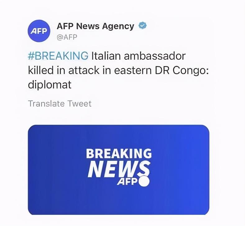 突发!意大利大使遇袭身亡