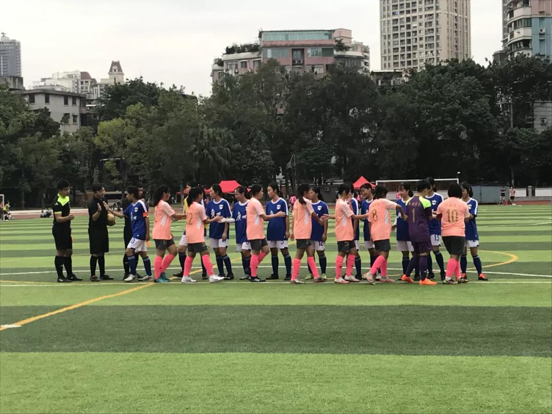 广州旅商女子足球队获得海珠区第十二届青少年校园足球联赛冠军