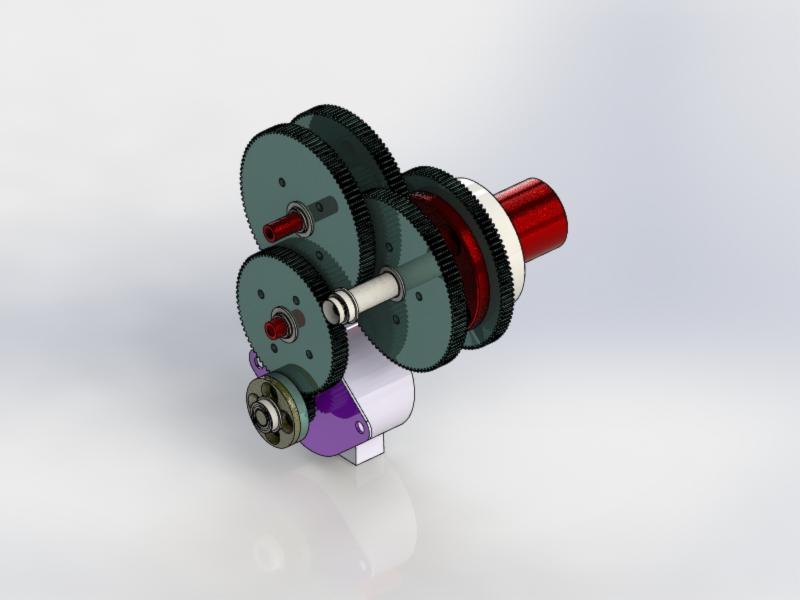 GC循环阀齿轮箱3D数模图纸 STEP IGS格式