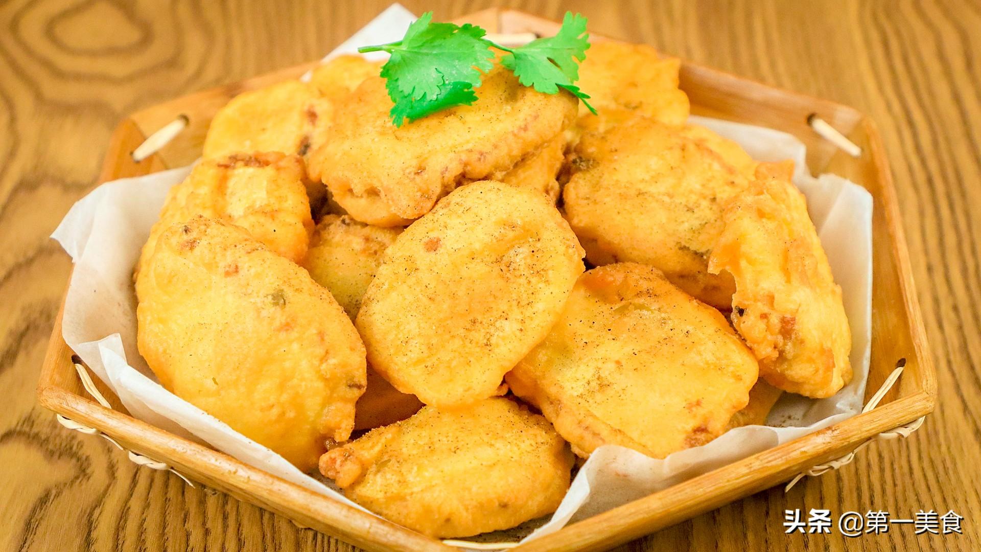 """土豆新吃法 厨师长分享""""椒盐土豆夹"""" 多做这一步 金黄焦香"""