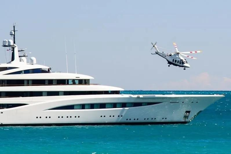 开始有人提到超级游艇上的停机坪,对于中型游艇是否有机会配置?