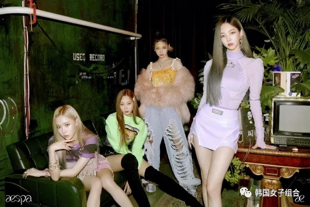 刚公开的SM新女团aespa集体照,不是8人,而是9人?