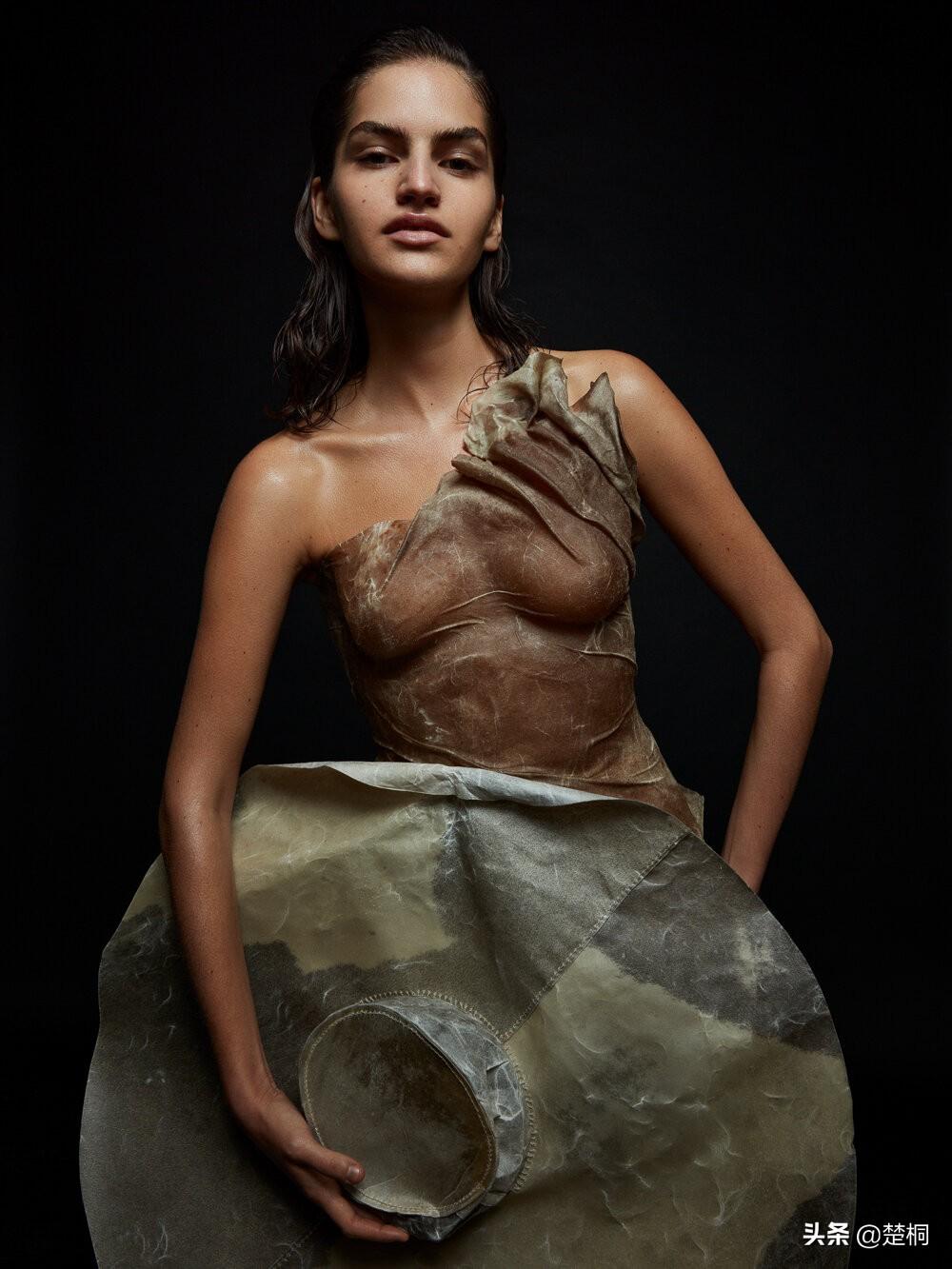 瑞典超模摩杰·西尼克,瑞典版《ELLE》雕塑造型时尚摄影