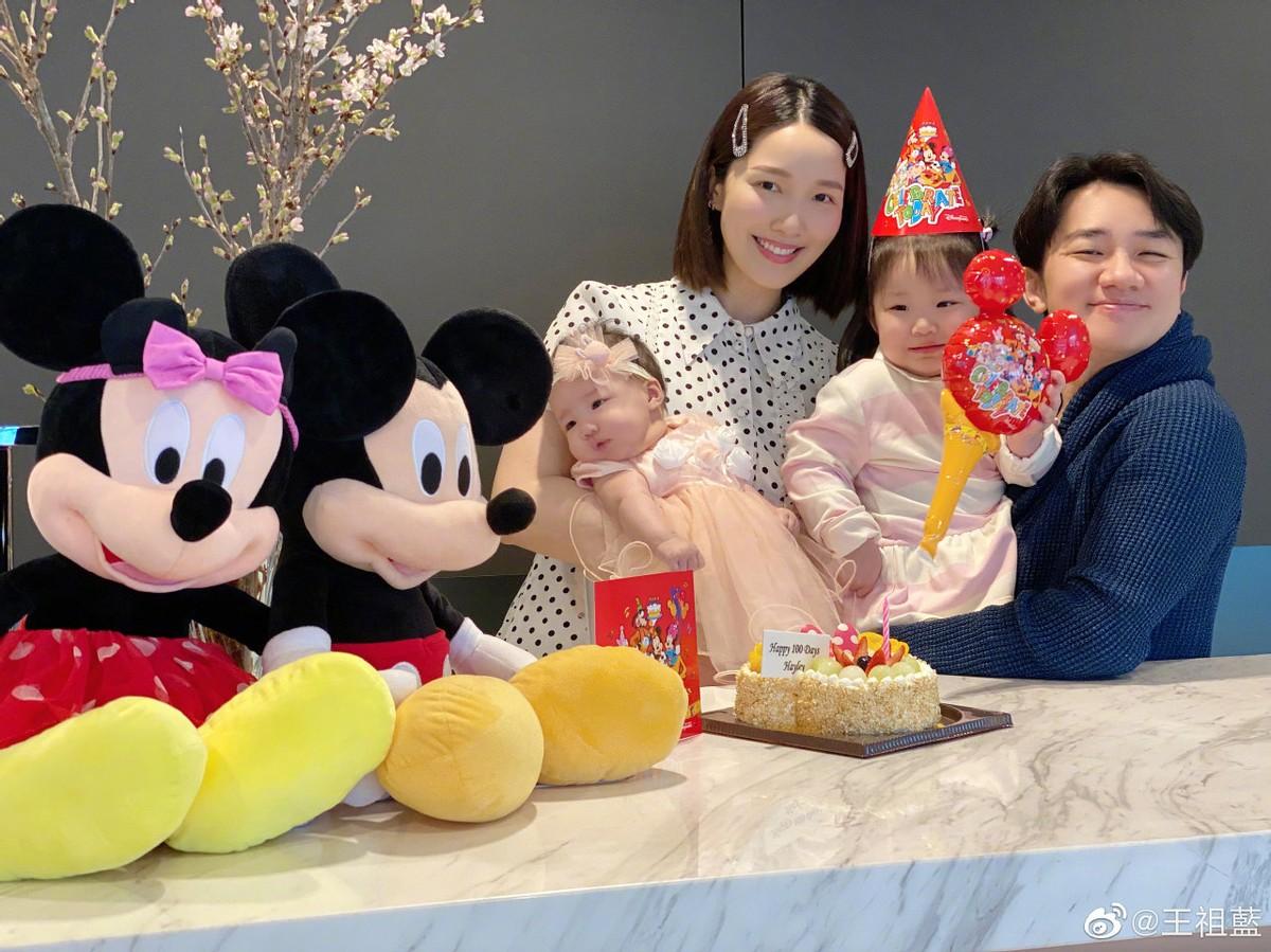 王祖藍一家慶母親節,家裡4個女的,曾言更想要兒子