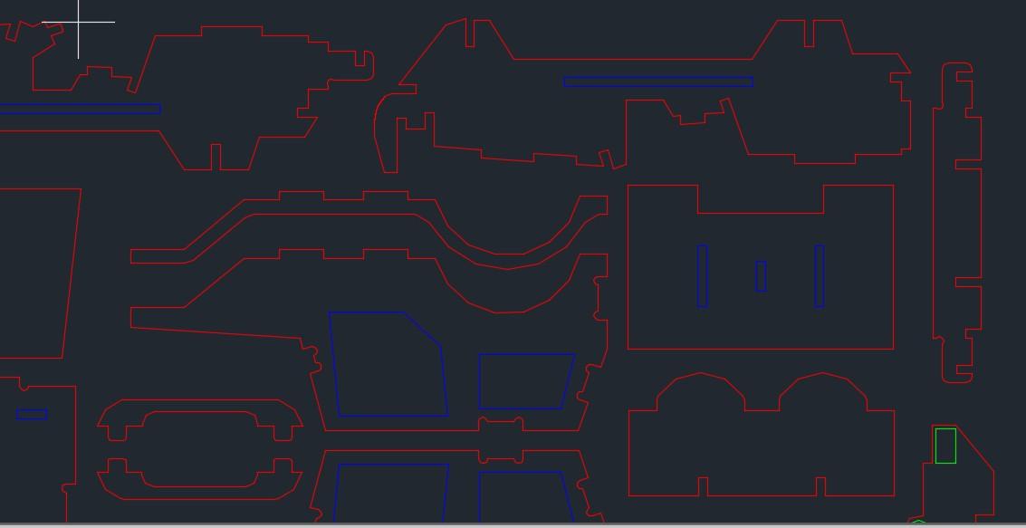 4.75mm Utility Truck吉普车拼装模型激光切割图纸 dxf格式