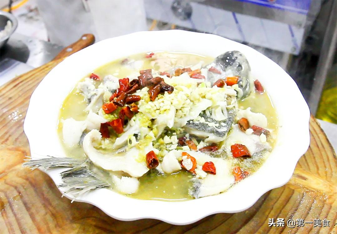 厨师长分享地道酸菜鱼,汤汁鲜香又开胃,鱼片嫩白又不腥 美食做法 第17张