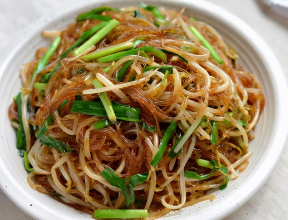 豆芽韭菜炒粉条的做法步骤图 粉条顺滑入味不粘不坨