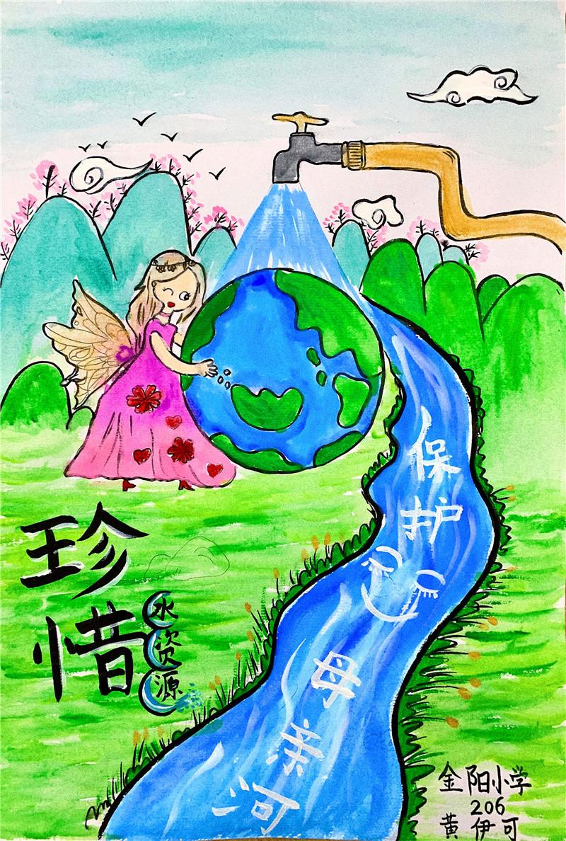 节约用水绘画教程,节约用水绘画图片大全简单