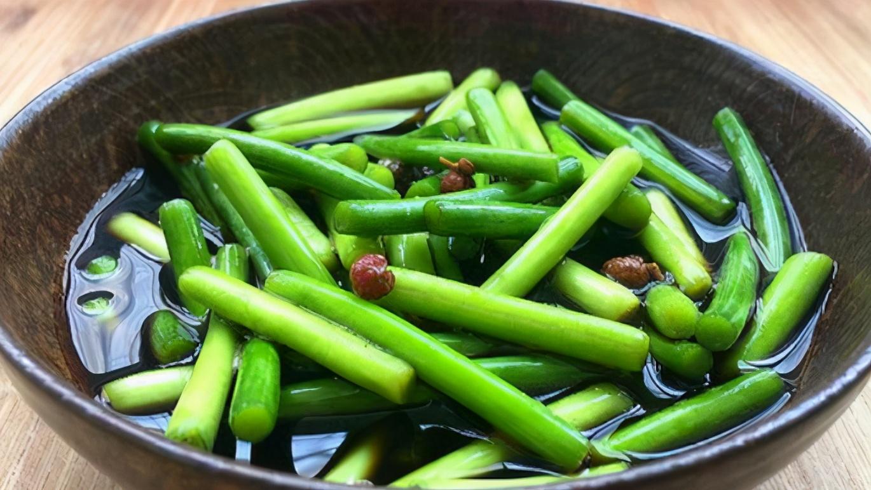 【腌蒜苔】做法步骤图 又绿又脆又入味 保质期长