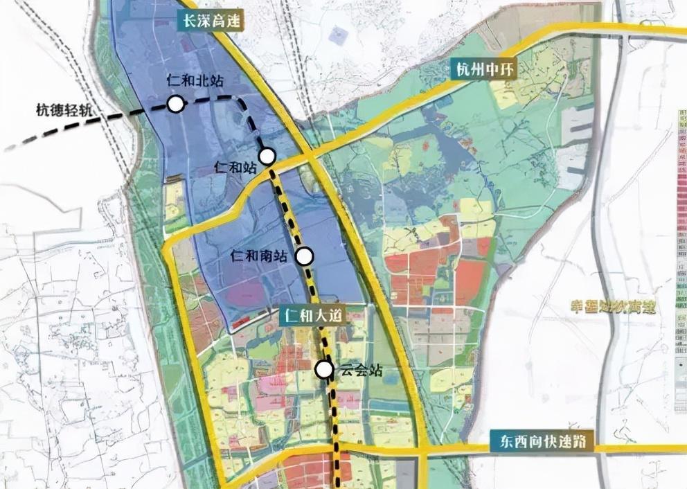 杭州中环余杭段全长44.2km,互通位置已确定
