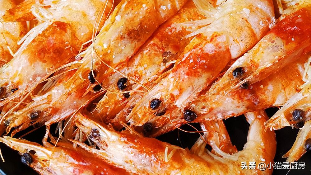 盐焗大虾 做法简单 看一遍就懂 咸香肉嫩 一大盘都不够吃