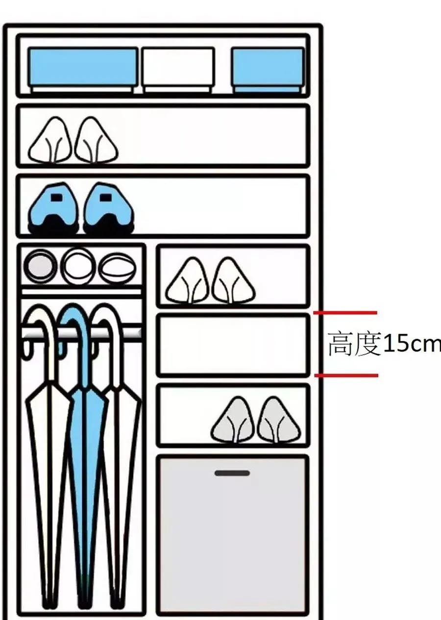 鞋柜这样设计,玄关收纳零死角!连土豪邻居都羡慕
