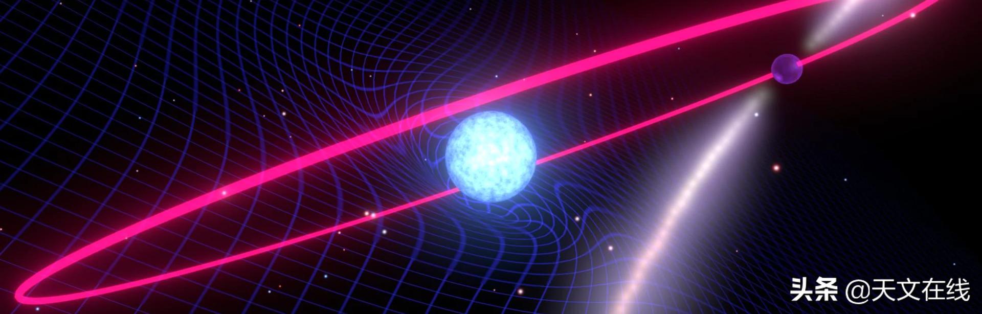 研究发现,白矮星的高速自转使其时空在这一场轻快舞蹈中慢了下来